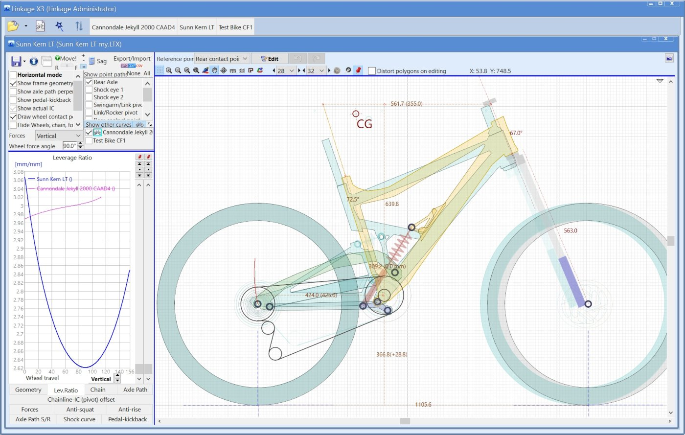 Linkage Bike Simulation Software - Details
