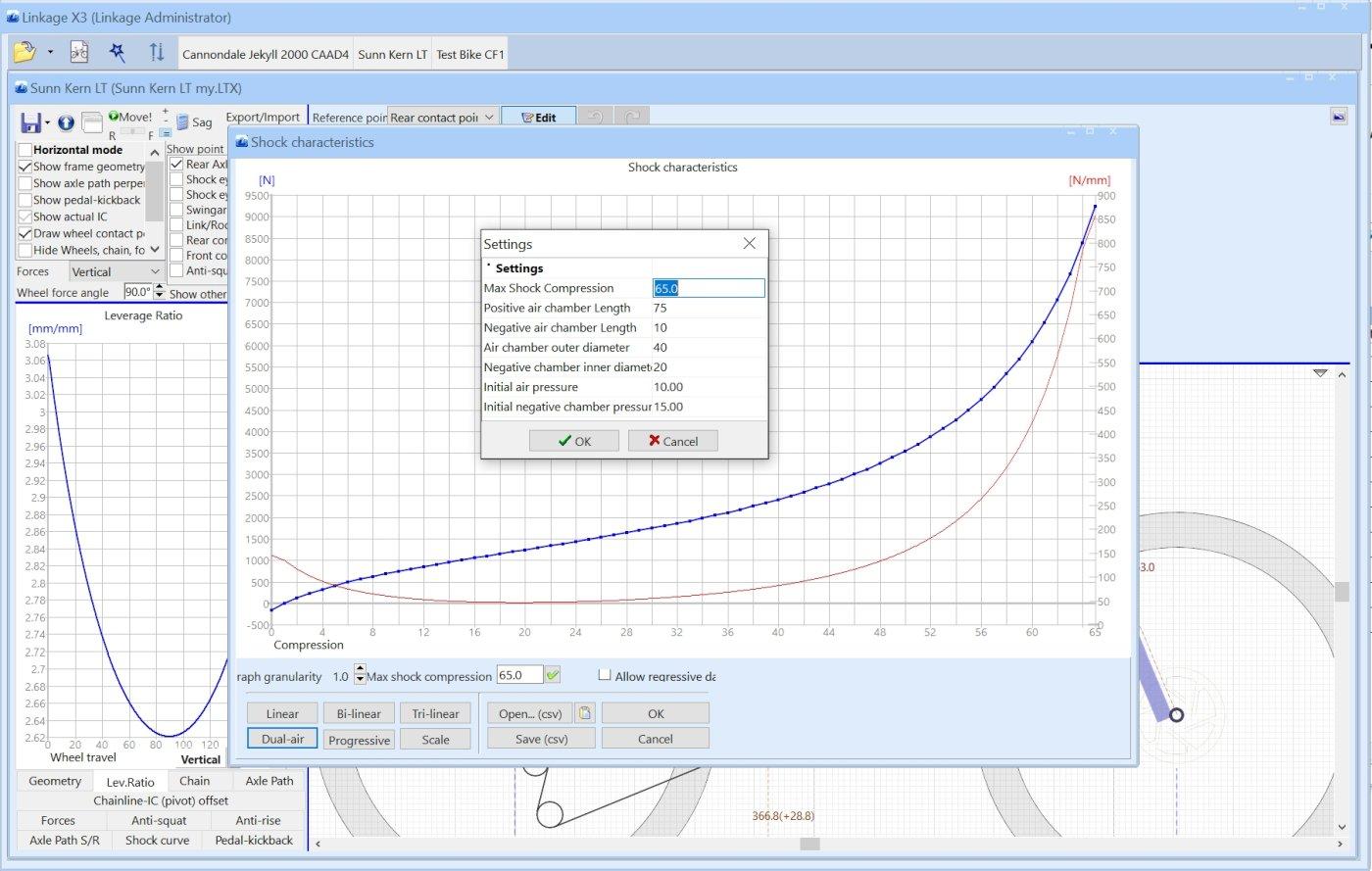 Linkage Bike Simulation Software - Details