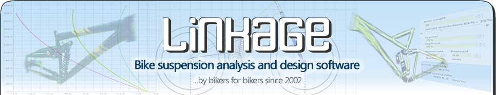 Linkage bike suspension simulation software